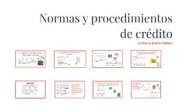 Normas y procedimientos de crédito