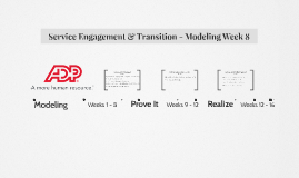 Service Engagement & Transition - Modeling Week 8