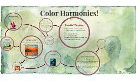 Color Harmonies!