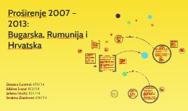 Proširenje 2007 – 2013:
