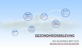 Copy of GEZONDHEIDSBELEVING