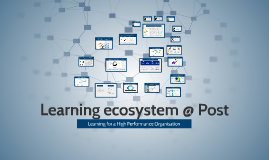 Learning ecosystem @ Post - for workshop