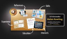 Copy of Desktop Prezumé by Helen Rowling