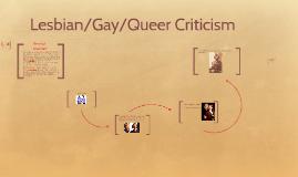 Gay lesbian criticism