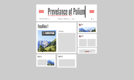 Prevelance of Poliomyelitis among (PERSON) in (PLACE), (TIME