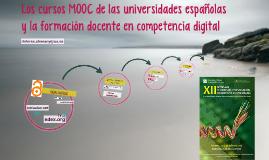 Los cursos MOOC de las universidades españolas y la formació