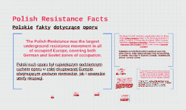 Polish Resistance Facts