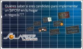 Eres candidato para un SIFOVI?