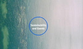 Sustainability and Events