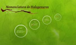 Nomenclatura de Halogenuros