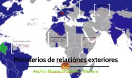 Ministerios de relaciónes exteriores