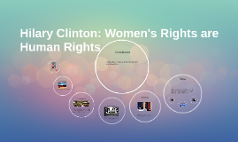 Hilary Clinton: Women's Rights are Human Rights