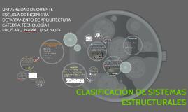 CLASIFICACIÓN DE SISTEMAS ESTRUCTURALES