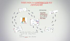 Fases Para La Construcción Del Instrumento