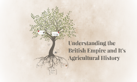 Understanding the British Empire and It's Agricultural Histo