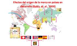 Efectos del país de origen de la marca en los consumidores de los países en desarrollo