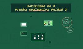 Actividad No.3 Prueba evaluativa Unidad 3