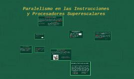 Procesadores Superescalares