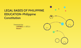 LEGAL BASES OF PHILIPPINE EDUCATION-Philippine Constitution