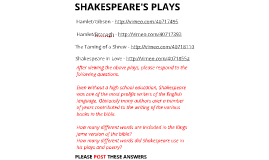 L2: Shakespeare Plays:
