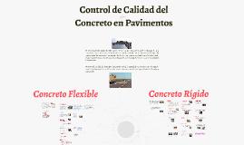 CONTROL DE CALIDAD DEL CONCRETO EN PAVIMENTOS
