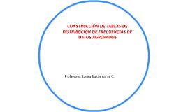 CONSTRUCCIÓN DE TABLAS DE DISTRIBUCIÓN DE FRECUENCIAS DE DAT