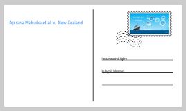 Copy of Apirana Mahuika et al v. New Zealand