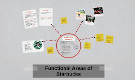 Functional Areas of Starbucks