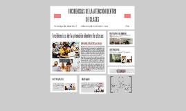 INCIDENCIAS DE LA ATENCION DENTRO DE CLASES