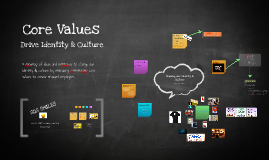 Core Values drive Identity & Culture
