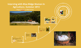 Interning with Blue Ridge Women in Agriculture, Summer 2013