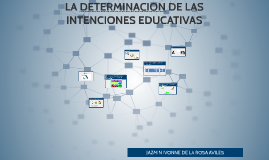 Copy of LA DETERMINACION DE LAS INTENCIONES EDUCATIVAS