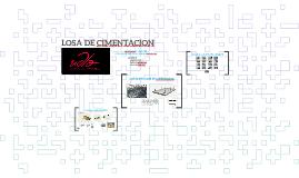 LOSA DE CIMENTACION