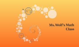 Ms. Wolf's Math Class