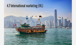 4.7 International marketing