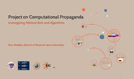 The Project on Computational Propaganda