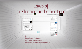 laws of reflection and refraction