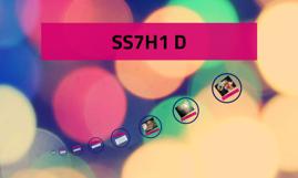 SS7H1 D