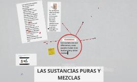 LAS SUSTANCIAS PURAS Y MEZCLAS