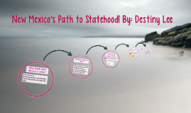 New Mexico's Path to Statehood! By: Destiny Lee