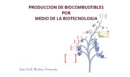 Copy of Biocombustibles por medio de la Biotecnologia