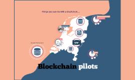 Blockchain Pilots (online version)