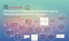 Prevalence of Pulmonary Embolism among Patients Hospitalized