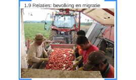 1.9 Relaties: bevolking en migratie