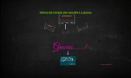 TIPOS DE DERECHO SEGÚN LA RAMA
