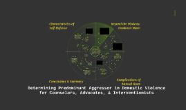 Predominant Aggressor Screening Training (non-LEO)