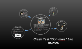 "Crash Test ""Doh-mies"" Lab BONUS"