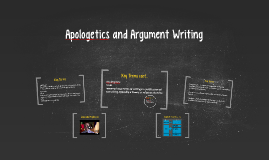 Apologetics and Argument Writing