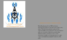 Public Service Models: Broadcasting & New media