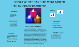 do white candles burn faster than colored candles research Comparing the burning speed of scented and unscented candles: scented and an unscented candle will burn to compare the burn rate of different colored candles.